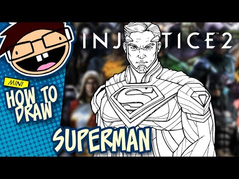 How to Draw SUPERMAN (Injustice 2)   Narrated Easy Step-by-Step Tutorial