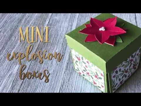 Paper Mini Christmas Explosion Boxes