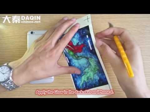 how to make custom glow in the dark iPhone 6S sticker