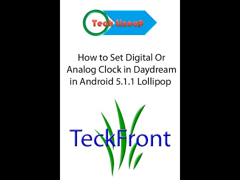 How to Set Digital or Analog Clock in Daydream in Android 5 0 Lollipop