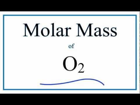 Molar Mass / Molecular Weight of O2 (Oxygen Gas)