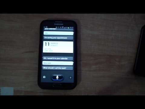 How to use S Voice to create an event and task Samsung Galaxy Note 2 S3 S4