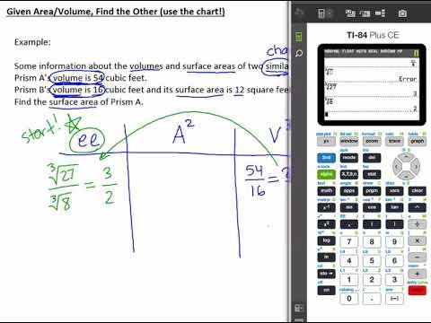 7.4j Given A or V Ratio Find A or V