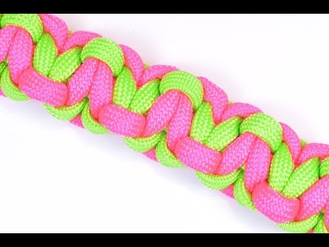 How to make a Solomons Heart Paracord Survival Bracelet with Whistle Buckle
