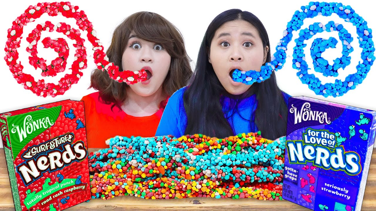 MUKBANG ROPE JELLY NERD CANDY   FUNNY EATING SNACKS & CRAZY CHALLENGES BY CRAFTY HACKS PLUS
