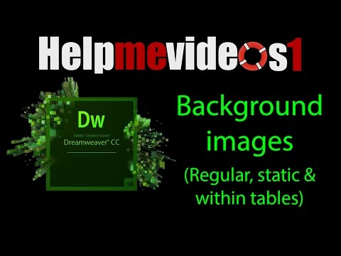 Dreamweaver CC adding background images & images within tables