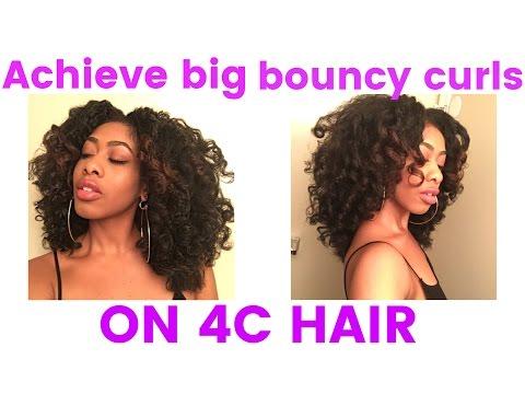 Big Bouncy Roller Set on 4C Natural Hair