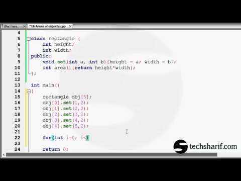 bangla c++ video tutorial 16 objects array