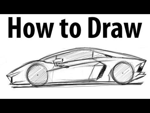 How to draw a Lamborghini Aventador - Sketch it quick!