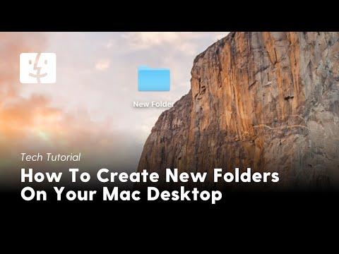 How To Create New Folders On Your Mac Desktop (MacOS Sierra)