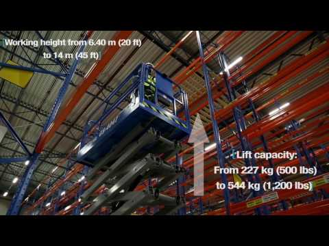 Driving a scissor lift at full height