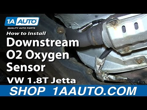 How To Install Replace Downstream O2 Oxygen Sensor VW 1.8T Jetta
