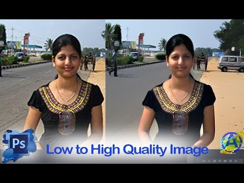 Low to high quality/resolution photo/image in adobe photoshop cc 2017