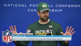 """Aaron Rodgers Championship Wednesday Presser, """"Size Matters"""" 