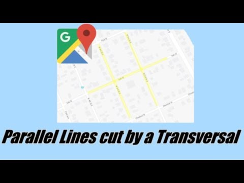 Parallel Lines cut by a Transversal - Alternate Interior, Alternate Exterior, Corresponding Angles