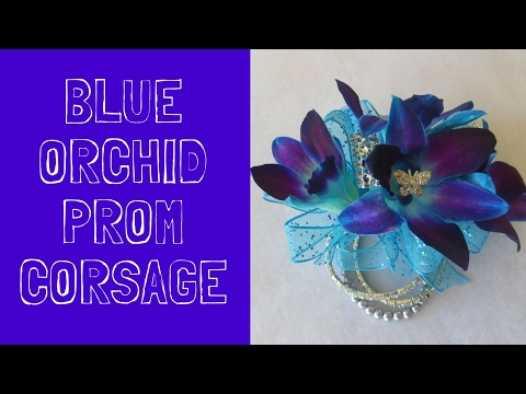 Blue Orchid Prom Corsage Ideas | Corsages Flowers for Dresses in Blues