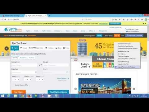 How To Handle Dropdown Menu In Selenium Webdriver In Yatra.com