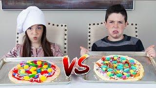 GUMMY FOOD vs REAL FOOD! - Pizza Edition