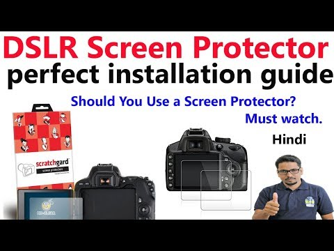 DSLR Screen protector | perfect installation guide in Hindi