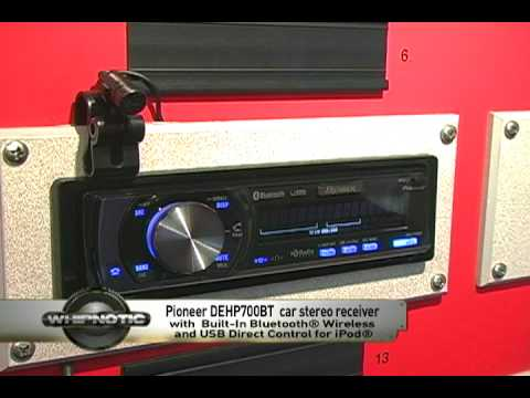 Pioneer Premier® DEH-P700BT CD/MP3/WMA/iTunes AAC/WAV In-Dash Receiver with Built-In Bluetooth® Wireless and USB Direct Control for iPod®