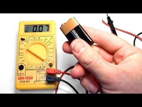 How to test a 9v AA AAA C or D Battery with a Cheap Multimeter