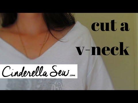 Cut a V Neck - Make a vneck on a tshirt - Change the neckline
