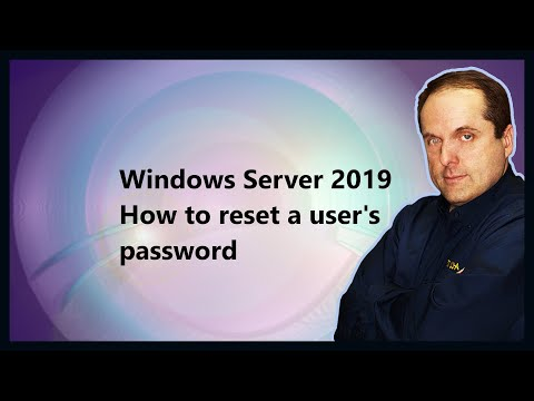 Windows Server 2019 How to reset a user's password