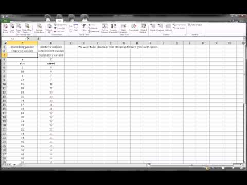 Excel - Quick Intro to Scatterplots, Bivariate Data, and Regression