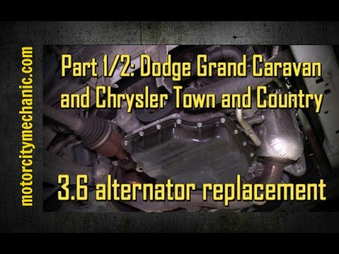 Part 1/2: Grand Caravan and Town and Country 3.6 liter alternator removal with shortcut