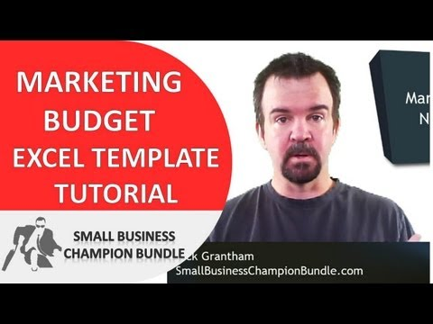 Marketing Budget Template - Excel Small Business Spreadsheet Analysis