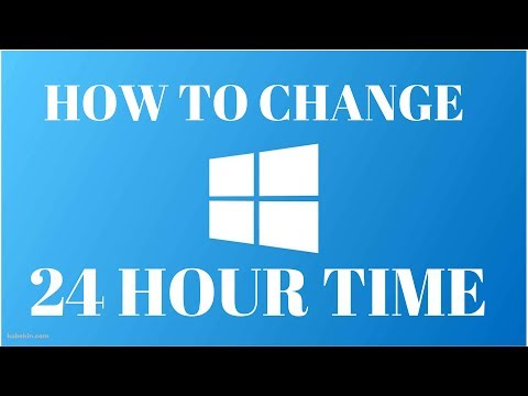 How To Change Time Format : Windows 10