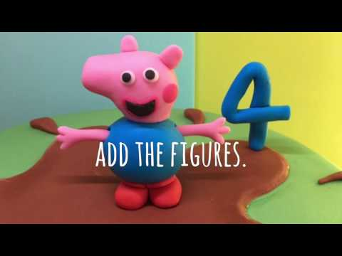 How to: GEORGE PIG in muddy puddle CAKE