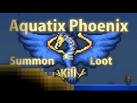 Terraria - [Reborn Mod] Aquatix Phoenix Boss - Summon, kill, loot
