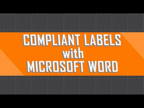 Create Compliant Safety Labels with Microsoft Word