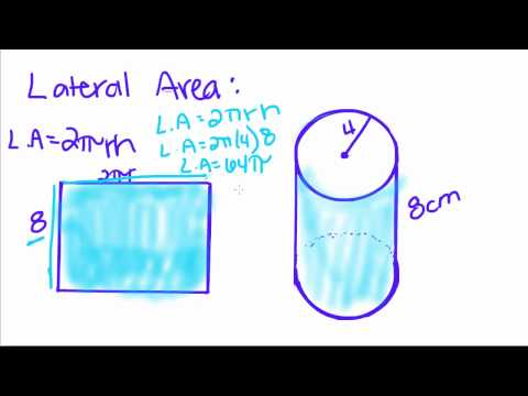 Geometry - 18 - Right Circular Cylinder - Volume, Lateral Area, and Total Area