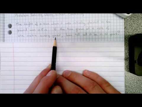 Linear Relationships - Problem Solving (Word Problem 2)