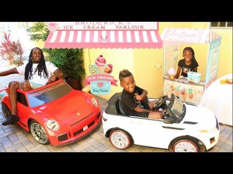 Drive Thru Ice Cream Stand Kids Pretend Play