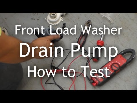 Front Load Washer Won't Drain - How to Test the Drain Pump