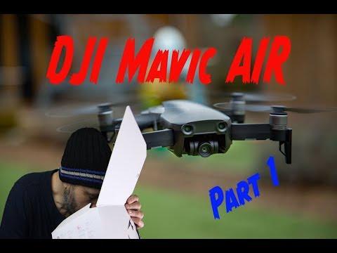 Unbox Review & Set-up DJI Mavic Air drone Part 1