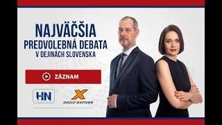 Najväčšia predvolebná debata s Braňom Závodským a Marcelou Šimkovou