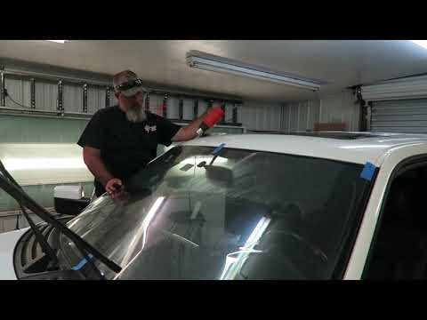 Tinting the Windshield on the Ford Raptor w/ 3M Crystalline 90%