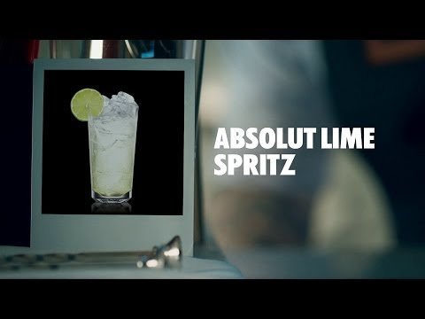 ABSOLUT LIME SPRITZ DRINK RECIPE - HOW TO MIX