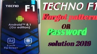 HOW TO HARD RESET OR REMOVE LOCK PATTERN FROM TECNO F2