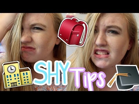 Shy Tips For Back To School 2017 | How To Get Through Being Shy For School | Courtney Graben