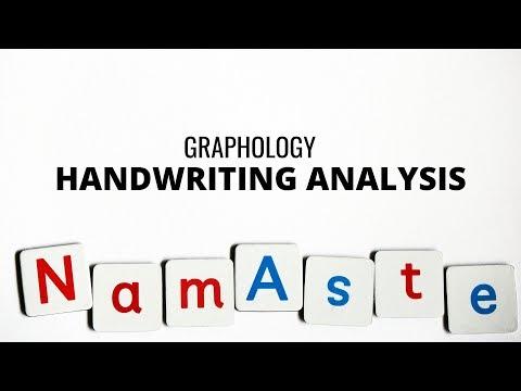 GRAPHOLOGY - HANDWRITING ANALYSIS - CLASS 1