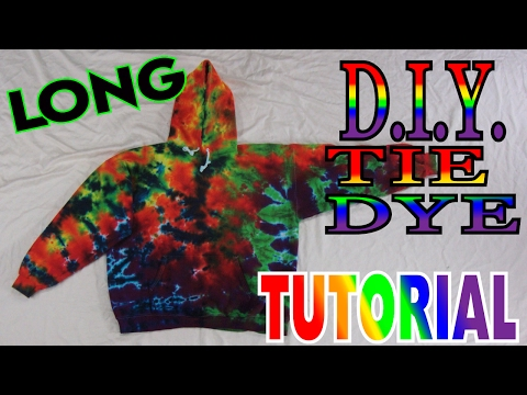 How to Tie Dye a Rainbow Hoodie Crinkle [Full Tutorial]