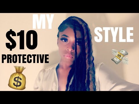 MY $10 PROTECTIVE STYLE | FAUX LOCS | DIVATRESS.COM