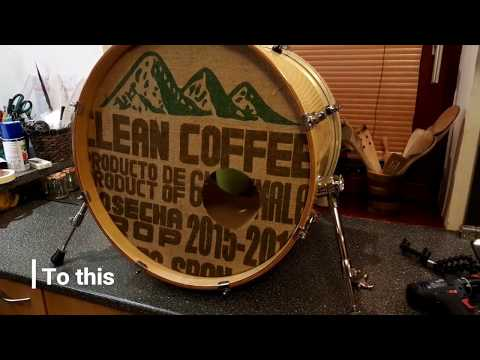 DIY personalized bass drum head