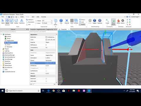 roblox studio how to use union negate and separate