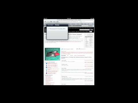 Printing From Your iPad With AirPrint (MacMost Now 541)